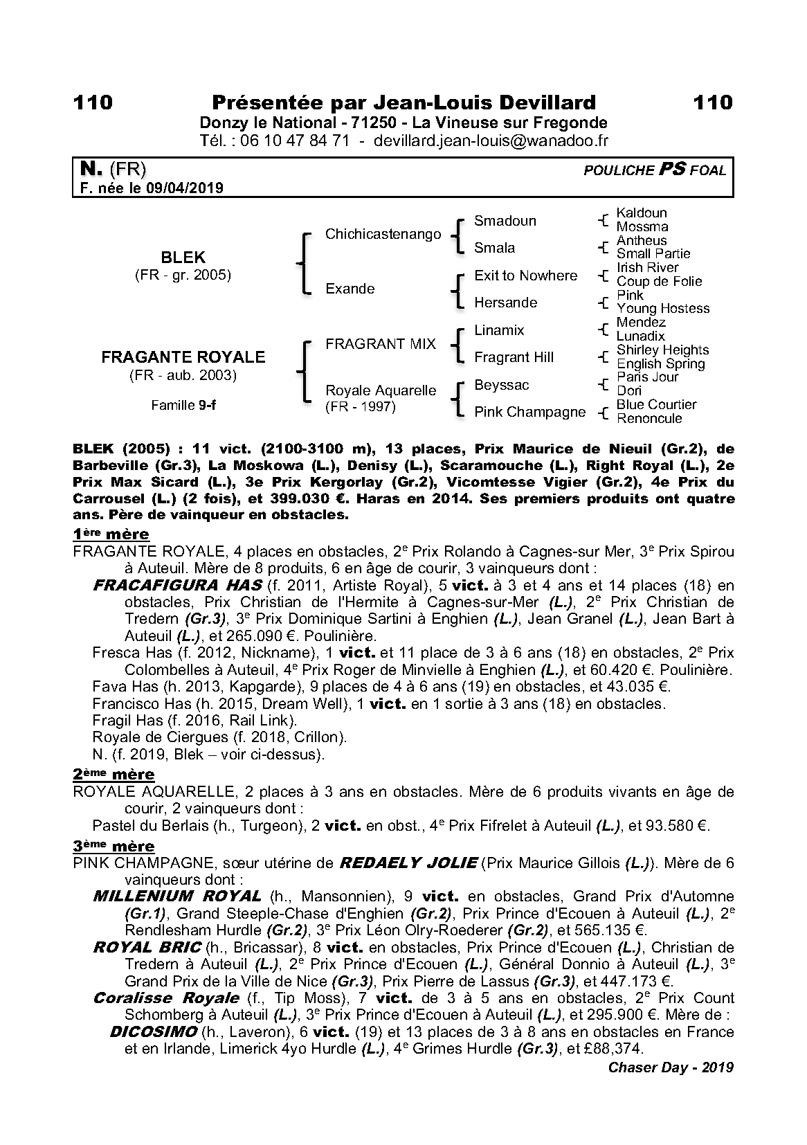 fournisseur officiel prix bas marque célèbre Fiche cheval FAVA HAS - France sire